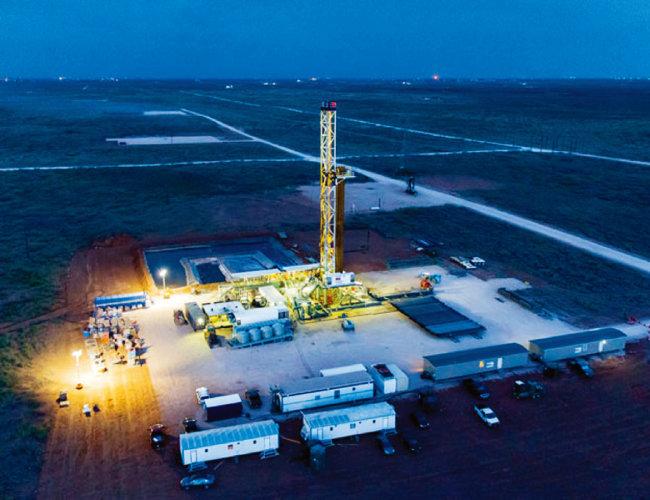 미국 셰브론 석유회사의 퍼미안 분지 셰일오일 유전 모습. [셰브론사]