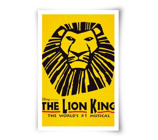 브로드웨이 뮤지컬 '라이온 킹' 포스터.