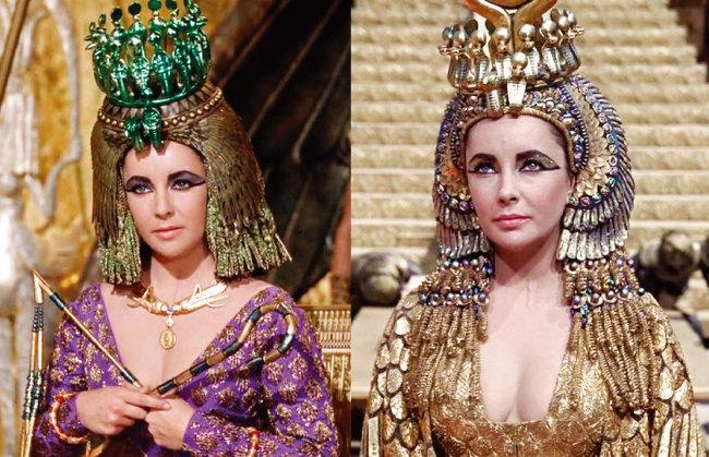 아름다움의 대명사로 불리는 클레오파트라를 휘감은 화려한 의상과 장신구. 그 가운데 하나가 녹색 보석이었다. 역사 속 클레오파트라가 가장 좋아한 보석이 에메랄드였다고 한다. 하지만 많은 역사가는 클레오파트라의 유명한 에메랄드 컬렉션이 실제로는 에메랄드가 아니라 페리도트였을 것이라고 믿고 있다. [영화 '클레오파트라' 화면 캡처]