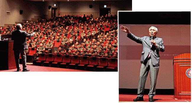 이국노 이사장의 '수양' 특강에는 1000명이 넘는 해병대원들이 참석해 성황을 이뤘다.