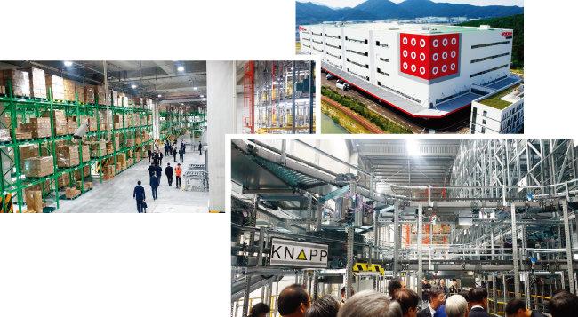 아성다이소가 부산 강서구 미음동 국제산업물류도시에 문을 연 스마트 통합물류센터 '부산허브센터'. [사진 제공 ·아성다이소]