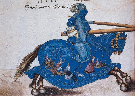 루카스 크라나흐 공방의 '청기사'(1535년 무렵). [사진 제공 · 민음사]