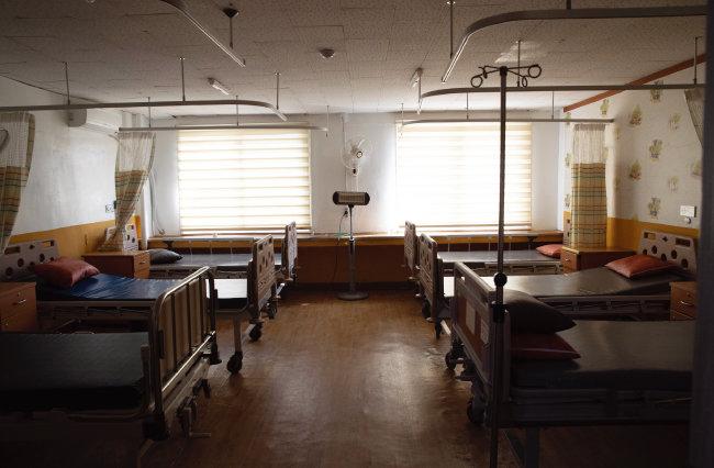 전남 신안군 비금도 신안대우병원의 병실. [지호영 기자]