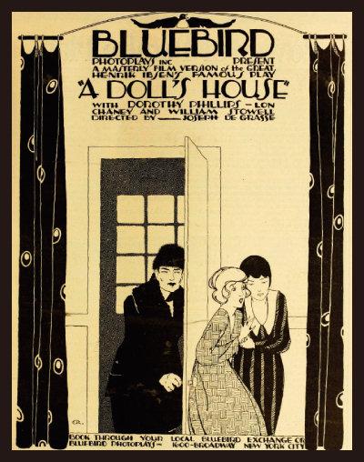 미국에서 제작된 영화 '인형의 집'(1917) 포스터.