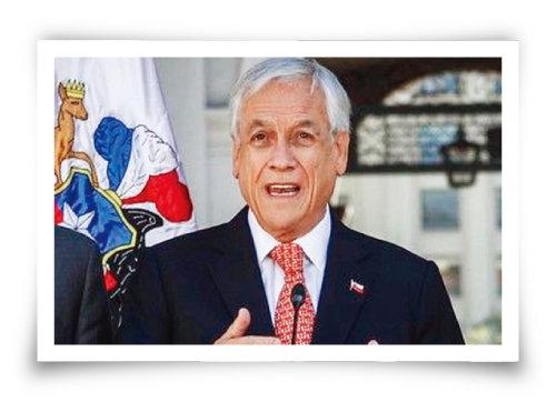 10월 30일 세바스티안  피녜라 칠레 대통령이  아시아태평양경제공동체 (APEC) 정상회의 취소를  발표하고 있다. [Merco Press]