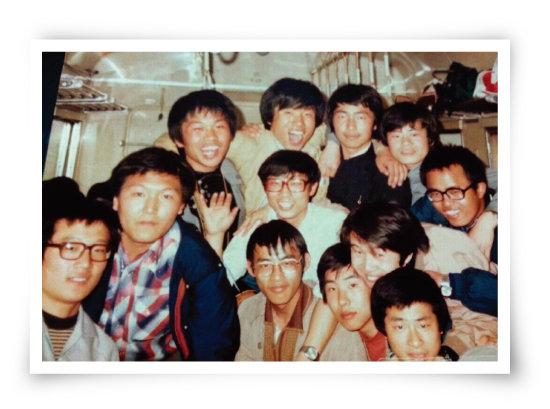 석동현 변호사가 제공한 대학 시절 MT 사진. 왼쪽에서 첫 번째가 석 변호사, 두 번째가 윤석열 검찰총장. [사진 제공 · 석동현]