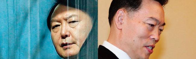 윤석열 검찰총장(왼쪽)과 김오수 법무부 차관. [뉴시스]
