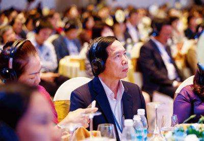한국 측 발표 내용을 청취하는 베트남 기업인들. [사진 제공 · 코트라]