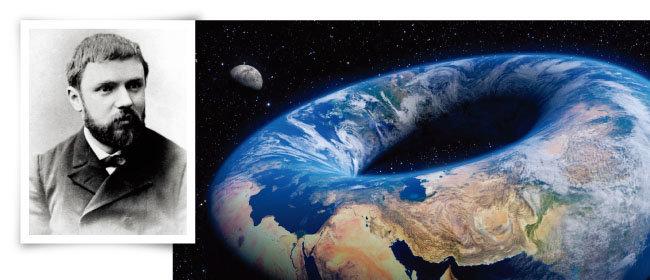 앙리 푸앵카레(왼쪽)와 도넛 모양 지구. [researchgate, vice]