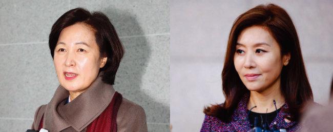 추미애 법무부 장관 후보자(왼쪽)와 SBS 드라마 '펀치'의 윤지숙(최명길 분) 법무부 장관. [뉴시스, 사진 제공 · SBS]