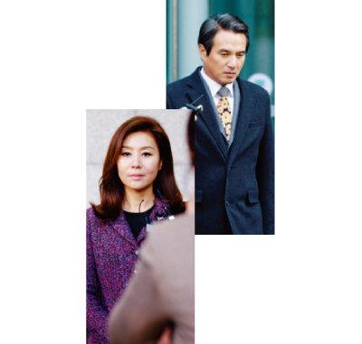 SBS 드라마 '펀치'의 윤지숙(최명길 분·왼쪽)과 이태준(조재현 분). [사진 제공 · SBS]