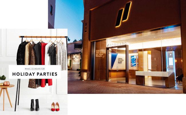 미국 캘리포니아 오렌지카운티 패션아일랜드 쇼핑몰 내 '포워드' 지점(오른쪽)과  '스티치픽스' 서비스. [스티치픽스, 포워드]