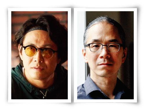 영화 '극한직업'의 테드 창(오정세 분·왼쪽)과 SF 소설가 테드 창. [사진 제공 · CJ 엔터테인먼트, ƒAlan Berner]