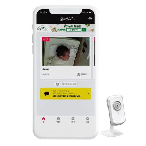 더케어컴퍼니의 신생아 실시간 카메라 서비스 '배내캠'. [더케어컴퍼니]