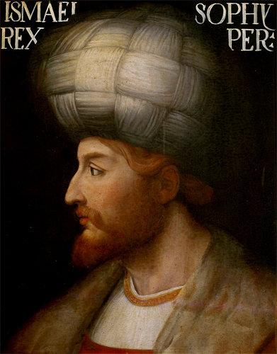 이란 사파비 왕조 창업자 이스마일 1세의 초상화 [위키피디아]