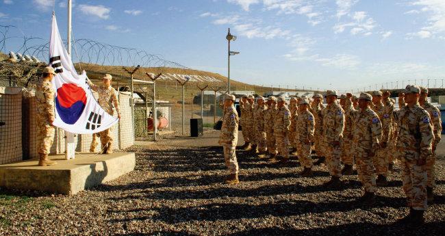 이라크 아르빌에 주둔한 한국 자이툰부대. [사진 제공 · 국방부]