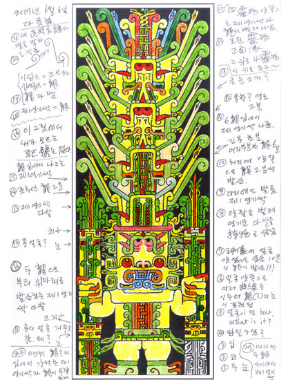 잉카문명의 신상 채색분석