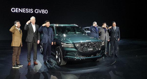 제네시스 프리미엄 SUV 'GV80' 역동적 우아함 선보여