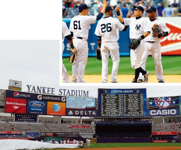 2013년까지 선수들 연봉에 천문학적 금액을 쏟아부은 뉴욕 양키스. [GettyImages]