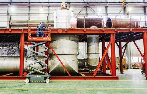 ㈜원일티엔아이의 대표 제품이자 효자 아이템인 천연가스 인수기지 분야의 핵심 장비 SCV