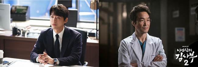 SBS 스토브리그 백승수(남궁민 분)(왼쪽).  SBS 낭만닥터김사부2 김사부. [SBS]