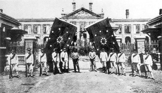 1911년 우창봉기 이후 수립된 호북군정부 수립. [위키피디아]