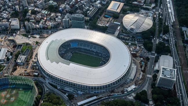 오는 7월 도쿄 올림픽 개막식이 열리는 도쿄 신국립 경기장의 모습. [도쿄올림픽 조직위]