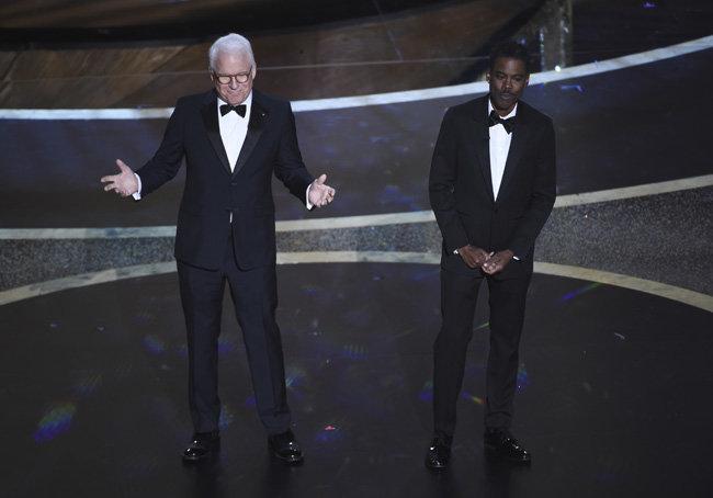 스티브 마틴(왼쪽), 크리스 록 [AP=뉴시스]