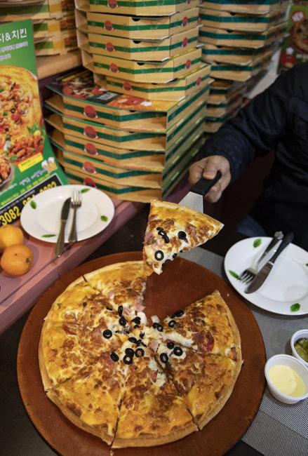 베이컨 포테이토 피자 라지 '16,900원'