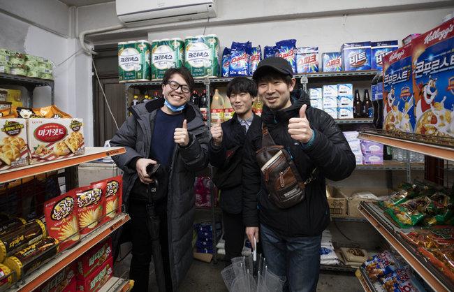 기생충에 열광한 일본 관광객들이 슈퍼를 찾았다.