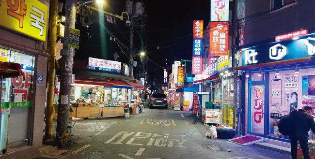 2월 7일 찾은 서울 대림동. 금요일 저녁인데도 한산한 모습이다. [동아DB]