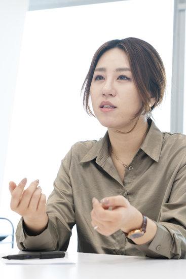 2월 20일 서울 영등포구 여의도에서 만난 조성은 브랜드뉴파티(32) 대표. [사진 홍태식]
