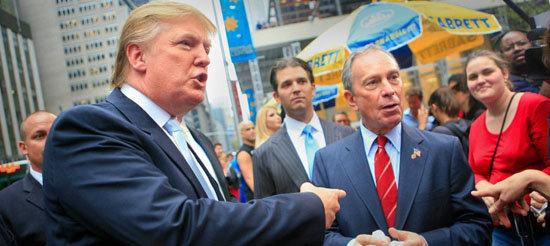 2007년 당시 부동산 재벌이던 트럼프가 마이클 블룸버그 뉴욕시장과 만나고 있다. [polaris]
