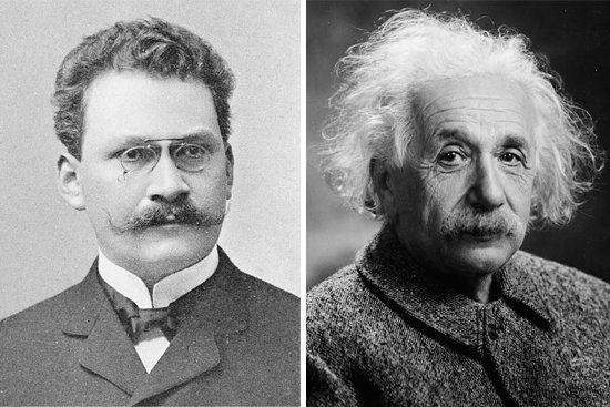 헤르만 민코프스키(왼쪽). 알베르트 아인슈타인. [위키피디아, 미국 의회도서관]
