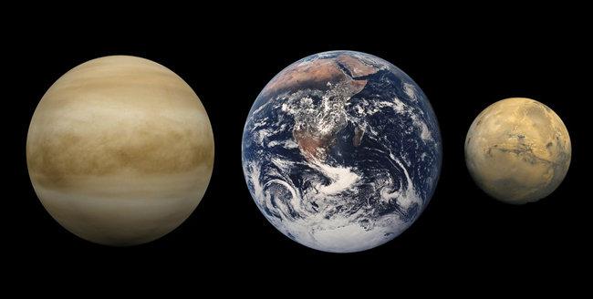 금성 지구 화성 [위키피디아]
