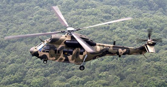 수리온은 프랑스 유로콥터의 기술 지원을 받아 개발된 헬기다.  [신인균 자주국방네트워크 대표]