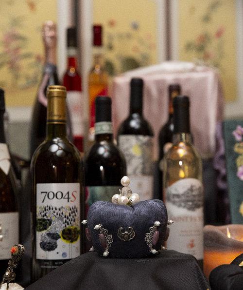 서울 프라자호텔에서 열린 '한복과 한국 와인의 만남' 행사에 선보여진 한국 와인들. [모던한 제공]