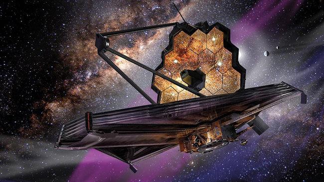 허블우주망원경을 대신하게 될 제임스 웹 우주망원경 상상도. [NASA]]