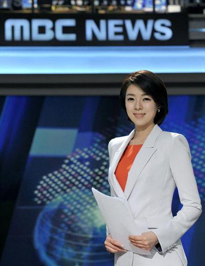 MBC 뉴스데스크 앵커 시절의 배현진 21대 국회의원선거 당선인. [MBC 제공]