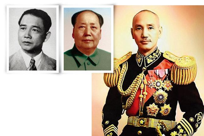 20세기 중국 지도자 3인방으로 꼽히는 왕징웨이, 마오쩌둥, 장제스(왼쪽부터). [위키피디아]