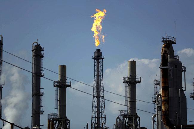 미국 텍사스주에 있는 디어파크 원유 시추시설. [AP=뉴시스]