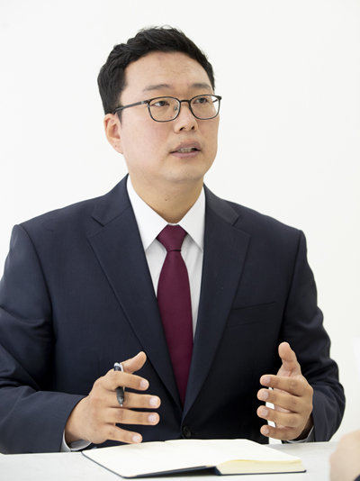 5월 14일 '주간동아'와 인터뷰 중인 천하람 미래통합당 순천갑조직위원장. [지호영 기자]