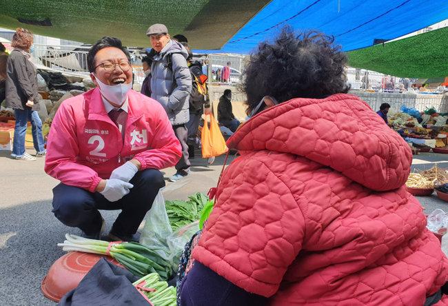 지난 4월 총선을 앞두고 전남 순천에서 유세 중인 천하람 당시 미래통합당 후보. [천하람 페이스북]