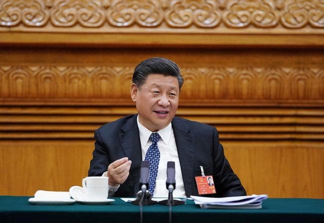 시진핑 중국 국가주석이 전국인민대표대회에서 국가의 단합이 중요하다고 강조하고 있다. [China Daily]