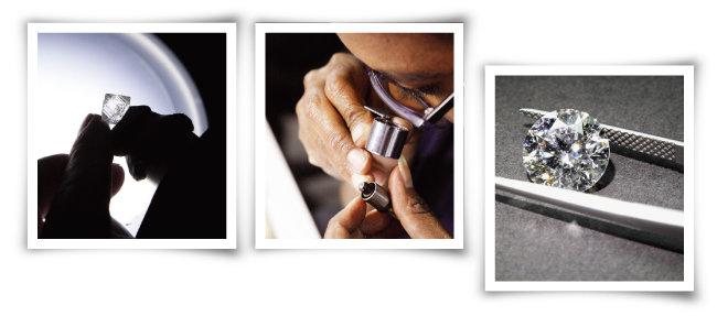 티파니에서 다아아몬드를 선별, 가공하고 세팅하는 과정. [티파니]