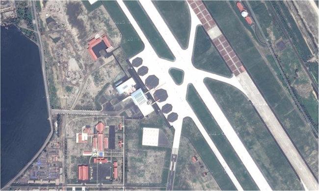 北원산갈마비행장 위성사진. [뉴스1]