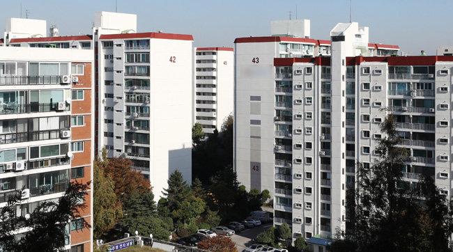 서울 강남구 한 아파트 단지 전경. [뉴시스]