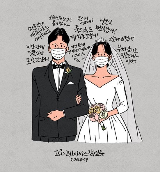 팬데믹으로 결혼식 풍경이 달라지고 있다.