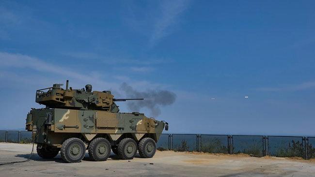 30mm 차륜형대공포-발사사진. [방위사업청 제공]