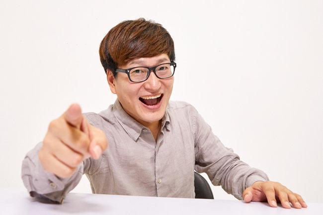 우파 청년 유튜버 개그맨 김영민. [홍중식 기자]